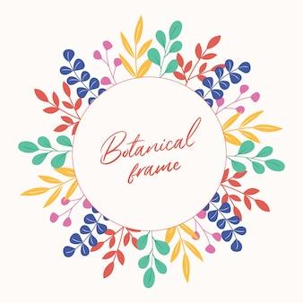 Botanischer vektorrahmen.