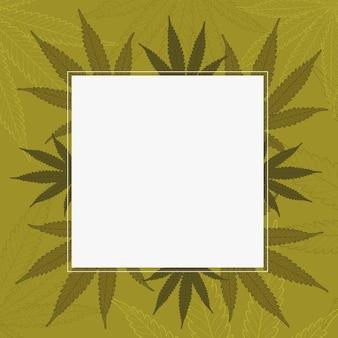 Botanisches cannabis hinterlässt hintergrund