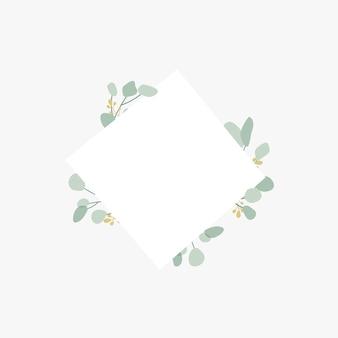 Botanisches hochzeitsabzeichen