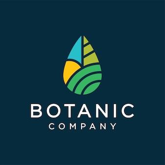 Botanisches logo-design-konzept