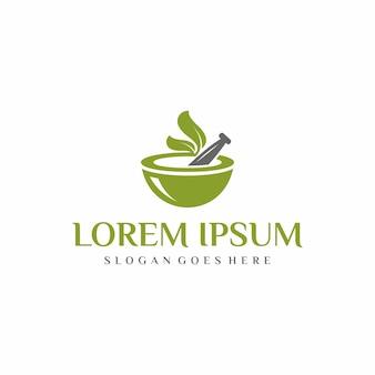 Botanisches medizin-logo