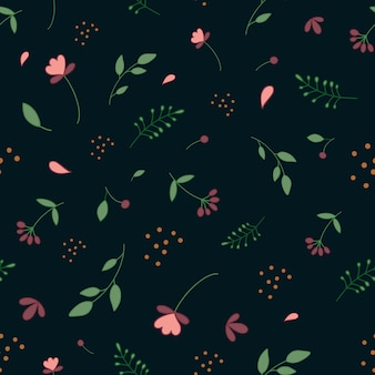 Botanisches muster einfaches muster