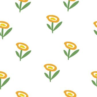 Botanisches nahtloses muster im frühling oder sommer