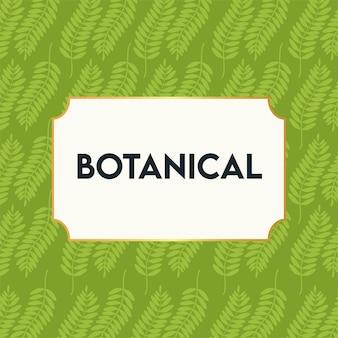 Botanisches plakat mit blattmuster