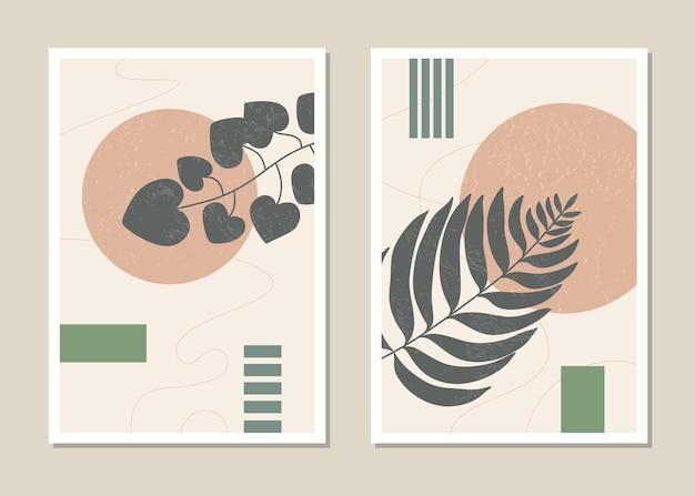 Botanisches wandkunstset.
