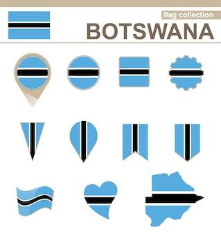 Botswana flag collection, 12 versionen