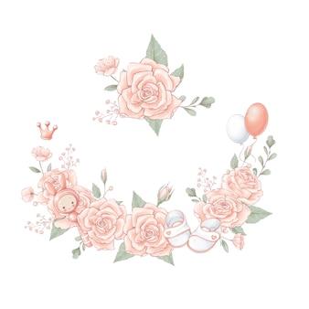 Bouquet kranz neugeborenen babyparty geburtstag.
