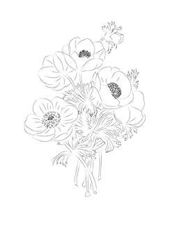 Bouquet von anemonen