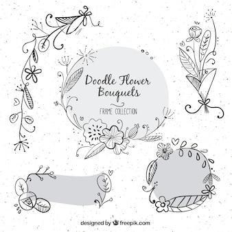 Bouquets hand gezeichnet