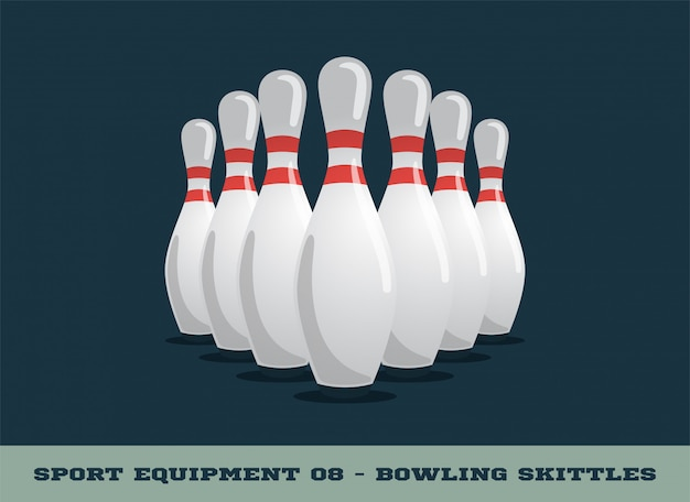 Bowling kegel-symbol. sportausrüstung.