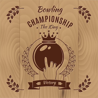 Bowling meisterschaft vintage style