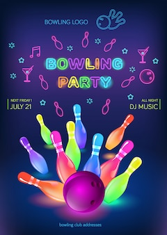 Bowling-party-flyer