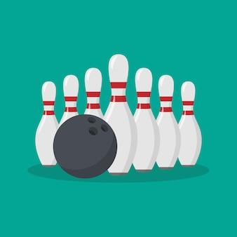 Bowling pin flaches symbol