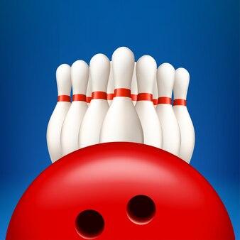 Bowling pind mit ball
