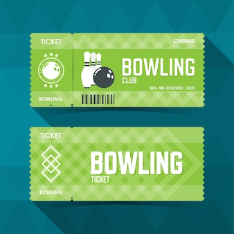 Bowling ticket card modernes element.
