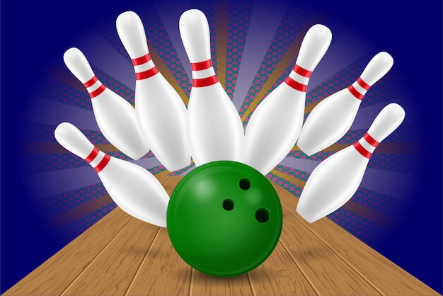 Bowlingkugel und pin