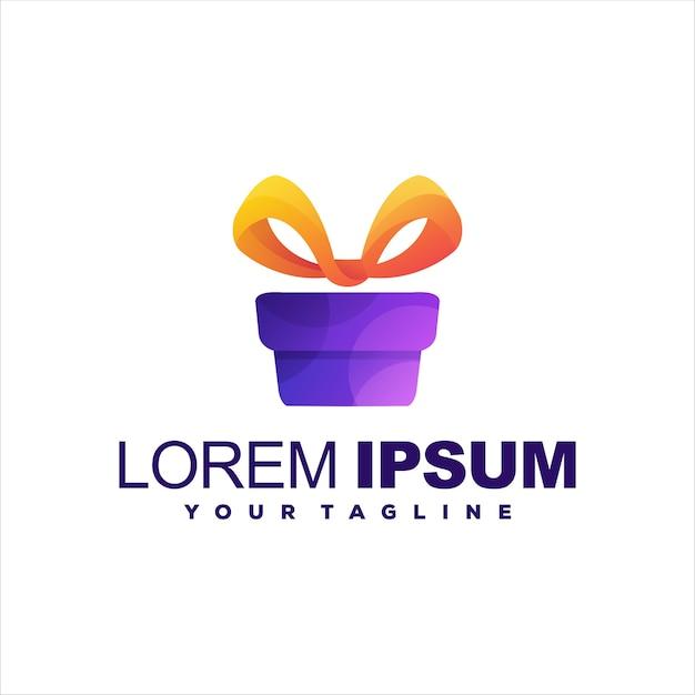 Box geschenk gradient logo design