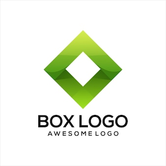 Box-logo bunter farbverlauf abstrakt