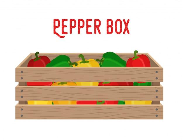 Box mit paprika