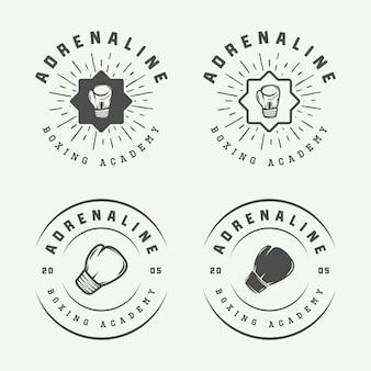 Box- und kampfsport-logos