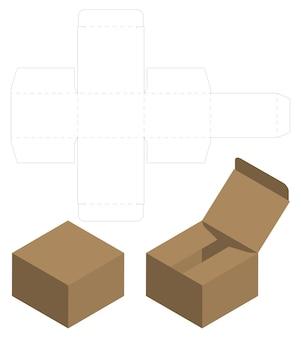 Box-verpackung gestanzt vorlage design