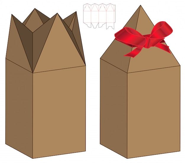 Box verpackung gestanzte template-design