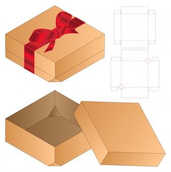 Box verpackung gestanzte vorlage. 3d