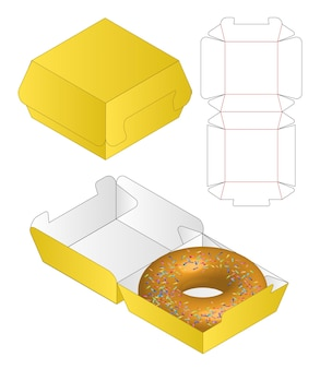 Box verpackung gestanzte vorlage design 3d