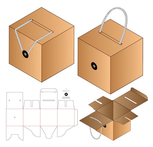 Box verpackung gestanzte vorlage design.