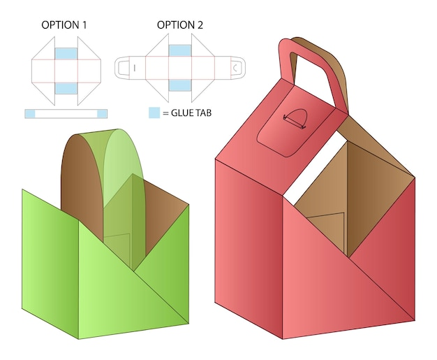 Box verpackung gestanzte vorlage design