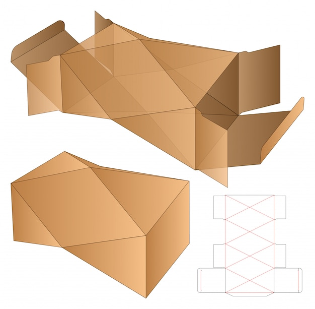 Box verpackung gestanzte vorlage
