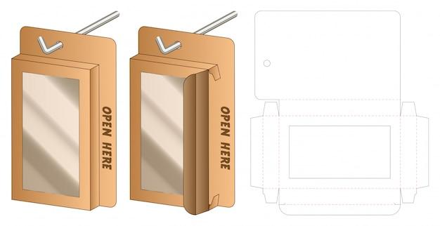 Box verpackung vorgestanzte template-design. 3d vorlage