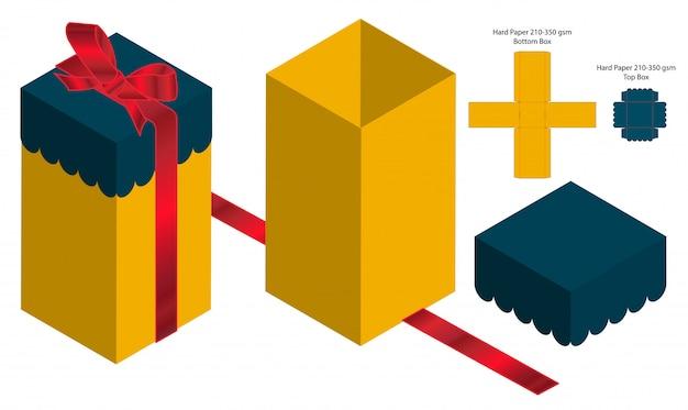 Box verpackung vorgestanzte template-design