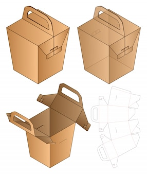 Box verpackung vorgestanzte template-design.