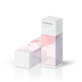 Box, verpackungsvorlage und stanzvorlage für produkt, branding. vektor-design-illustration.
