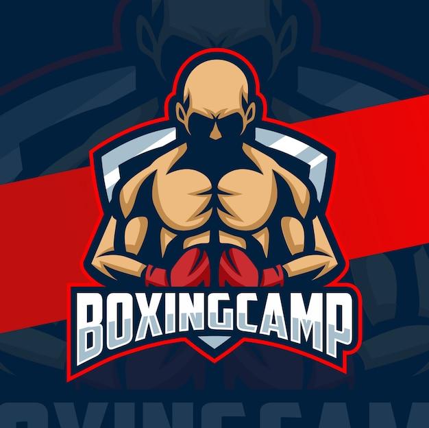 Boxen maskottchen esport logo design