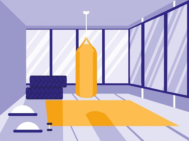 Boxen push-in sport fitnessstudio