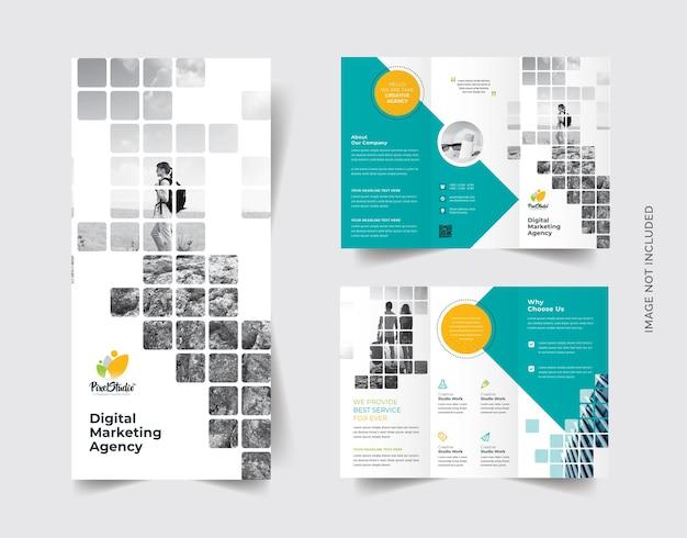 Boxen-stil trifold-broschüre