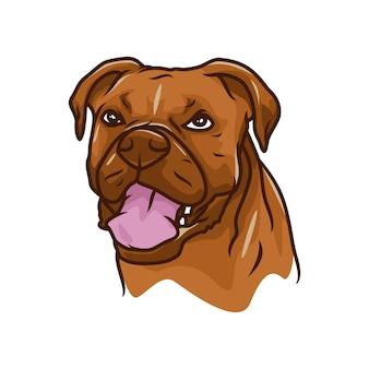 Boxer-hund - vektorlogo / ikonenillustrationsmaskottchen