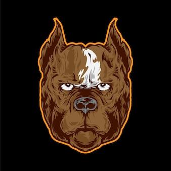 Boxer illustration für logo und maskottchen