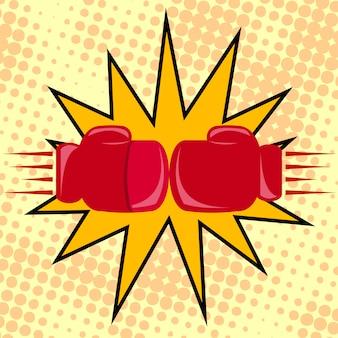 Boxerhandschuhe schlagen
