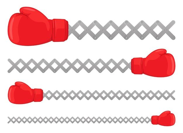 Boxhandschuhe design illustration isoliert auf weißem hintergrund