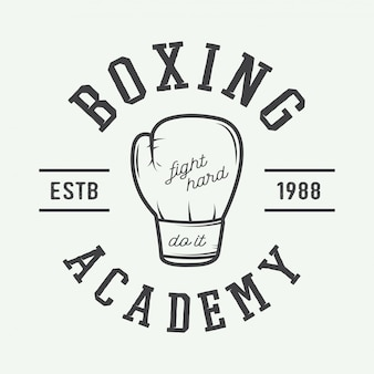 Boxhandschuhe im vintage-stil.
