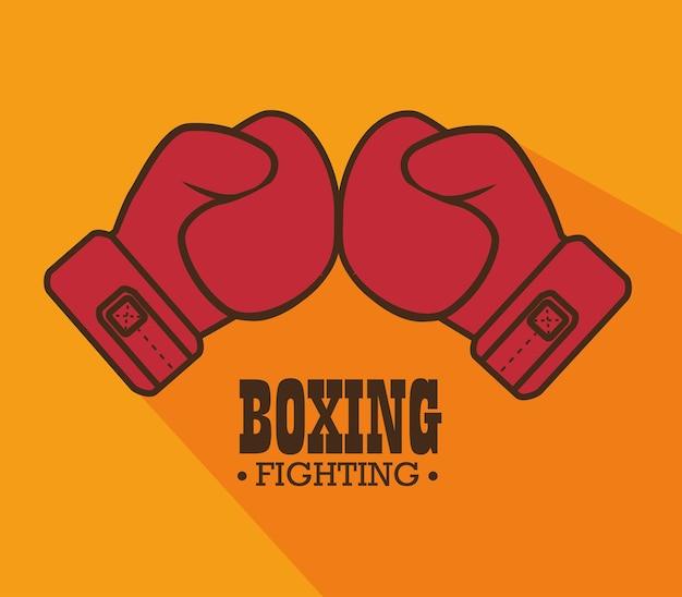 Boxhandschuhe punsch isoliert