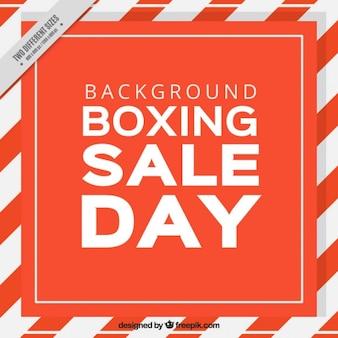 Boxing day hintergrund mit weißen und roten rahmen