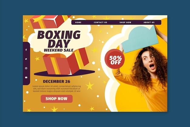 Boxing day landing page konzept