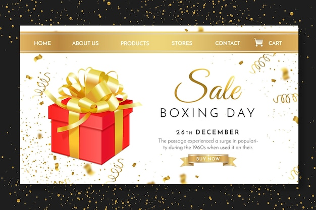 Boxing day landing page vorlage