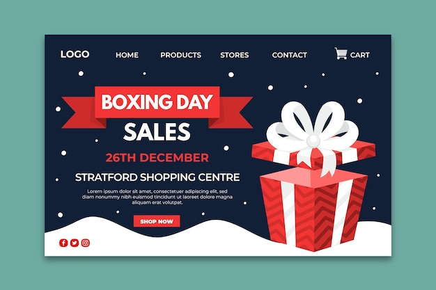 Boxing day landing page