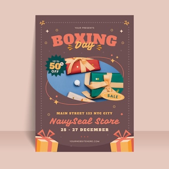 Boxing day poster vorlage