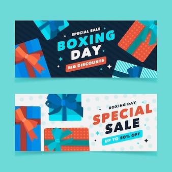 Boxing day sale banner im flachen design